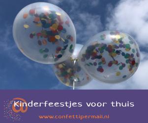 Kinderfeestjes voor thuis - confetti per mail